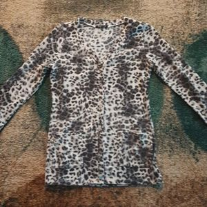 Foreign Exchange Leopard Print Sweater Sz. L